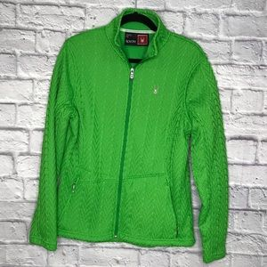 Spyder Cable Warm Jacket Green